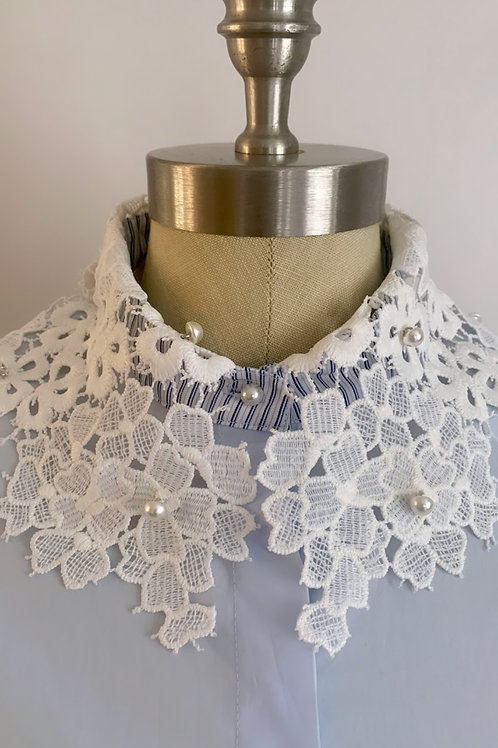 Lace and Pearls Blouse
