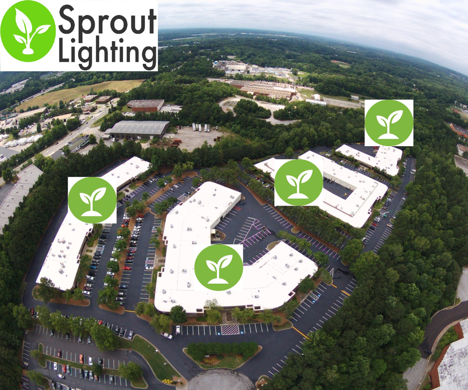 Songy Highroads plugs in Sprout Lighting to brighten Lake Ridge Technology Center!