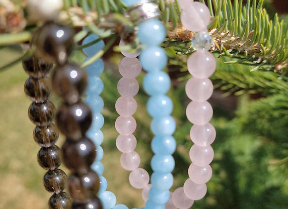 Gemstone Trio Bracelets