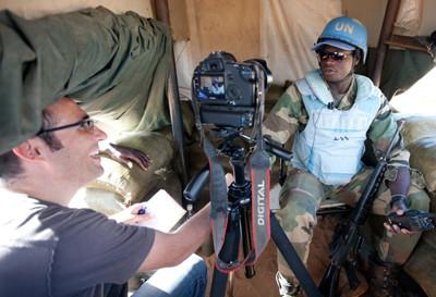 Senegalese troops