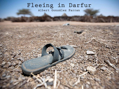 Fleeing in Darfur