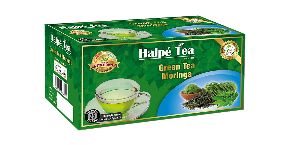 Halpe Green Tea Moringa 25 Enveloped Tea Bags