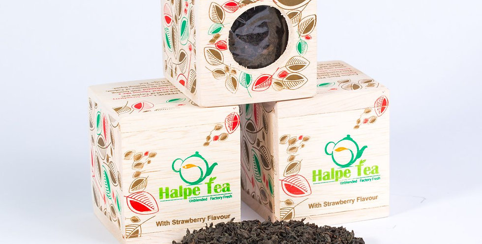 Halpe Tea Strawberry Wooden Box 25g
