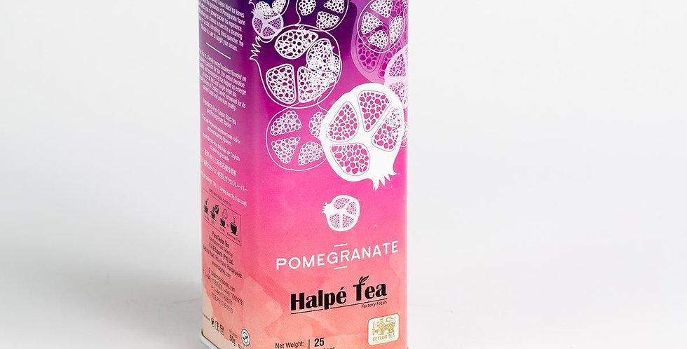 Halpe Pomegranate Tea Caddy (with money coin slot)