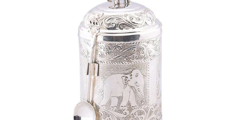 Halpe Tea Silver Brass Caddy