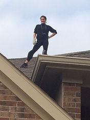 Elissa on a roof.JPG