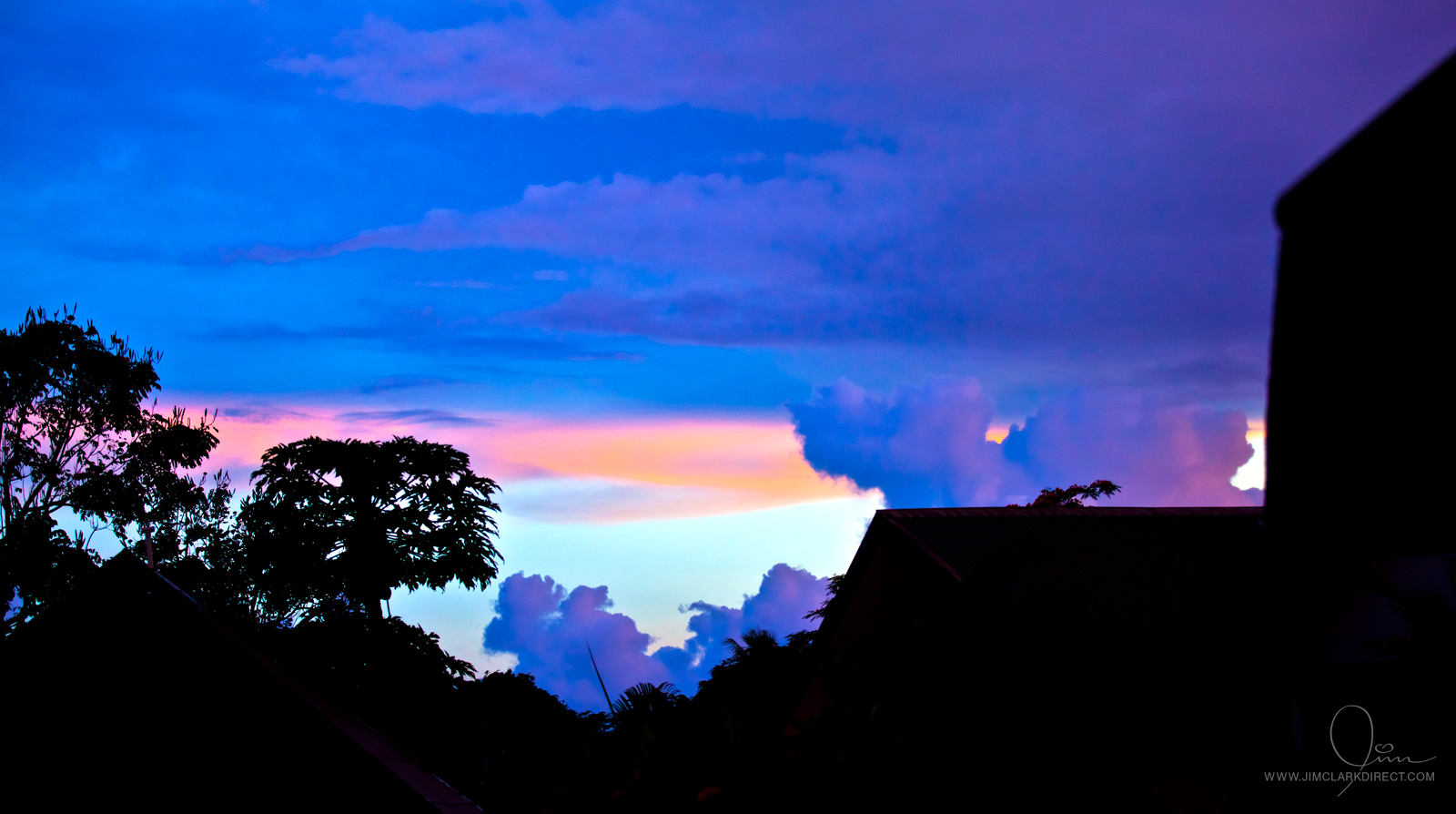 CANDY SUNSET IN PORT VILA, VANUATU