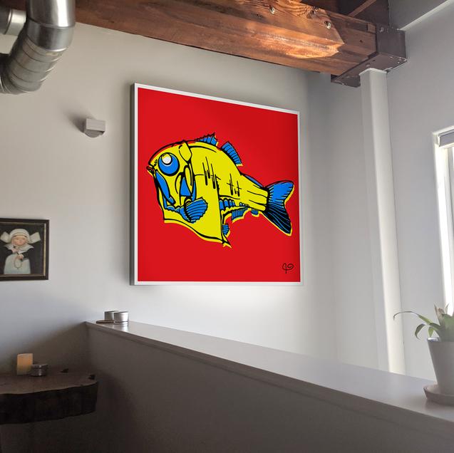 TRIGGER FISH POP ART