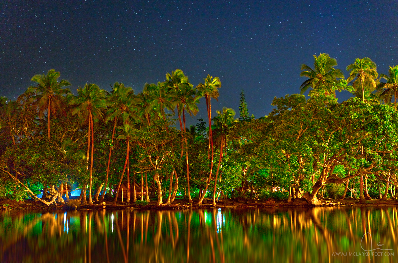 LAGOON REFLECTIONS ON EFATE, VANUATU