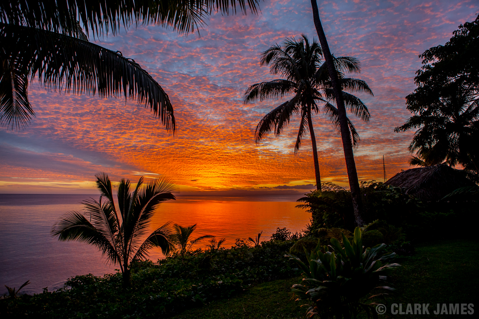 SUNSET AT PARADISE TAVEUNI, FIJI