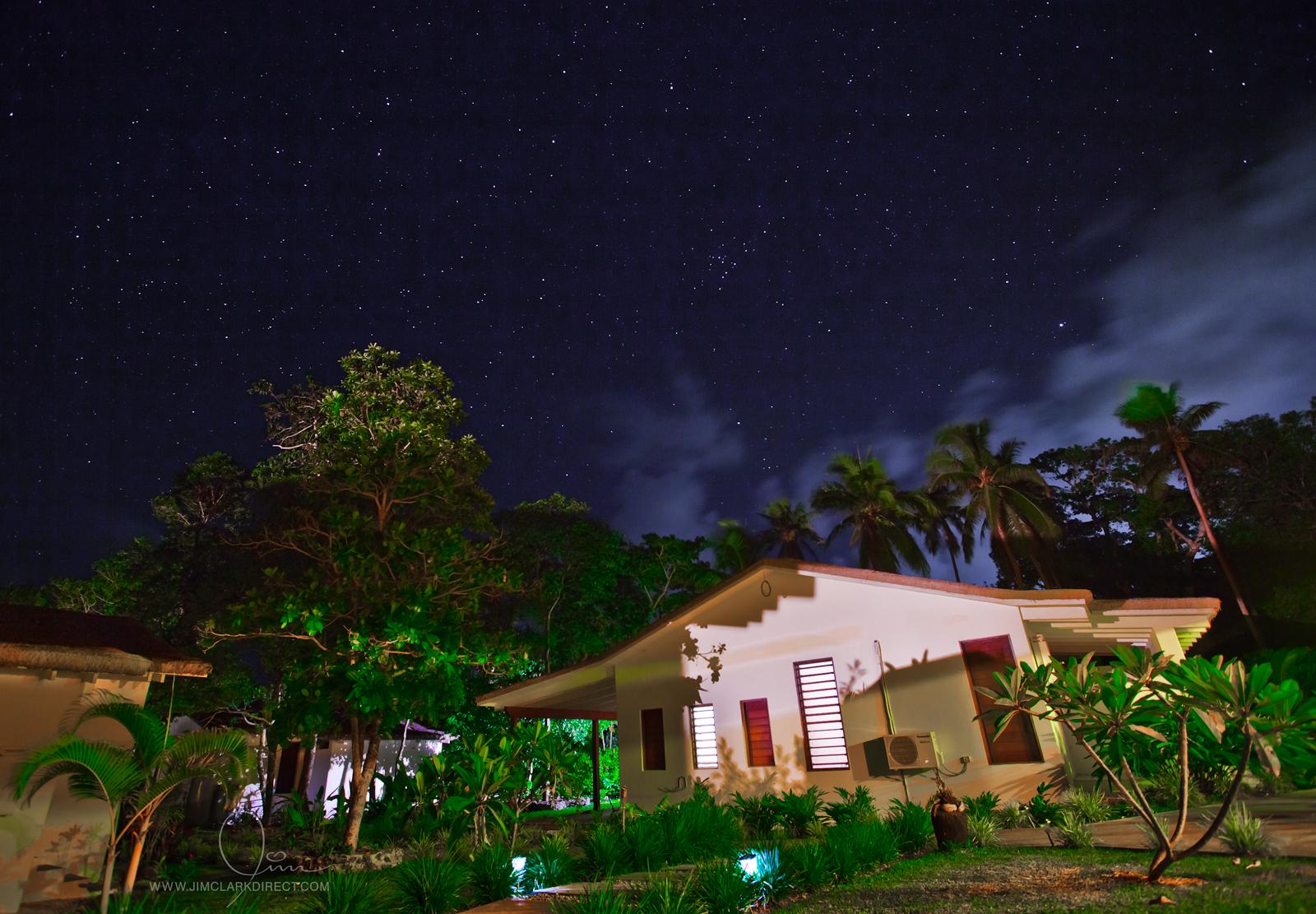 NIGHT SKY ABOVE ANGELFISH COVE