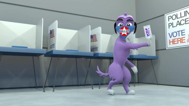 TEXAS VOTE - BALLOT THE DOG