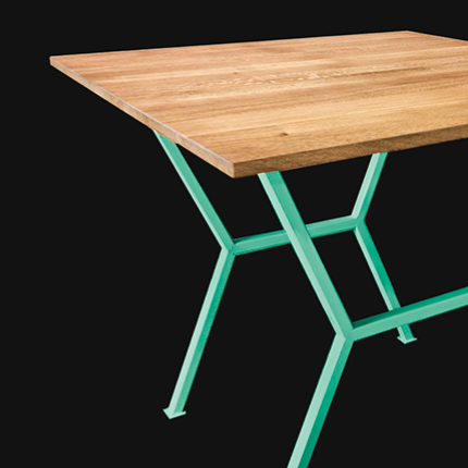 BEEHIVE OAK TABLE