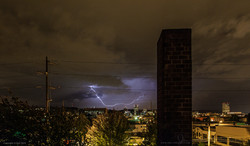LIGHTNING OVER PORTLAND, OREGON