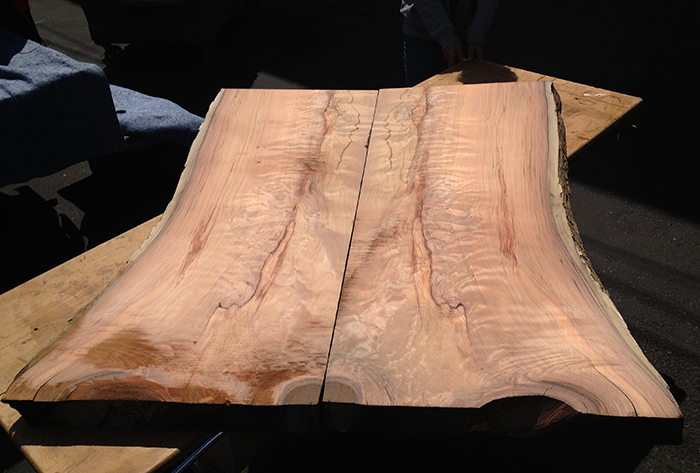 CLARK-JAMES-CUSTOM-RUINS-REDWOOD-BOOKMATCHED-TABLE-TOP