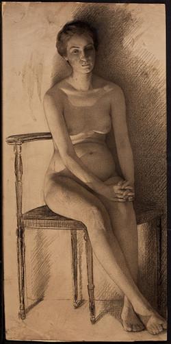 WilliamClaus_SittingNude_1900s