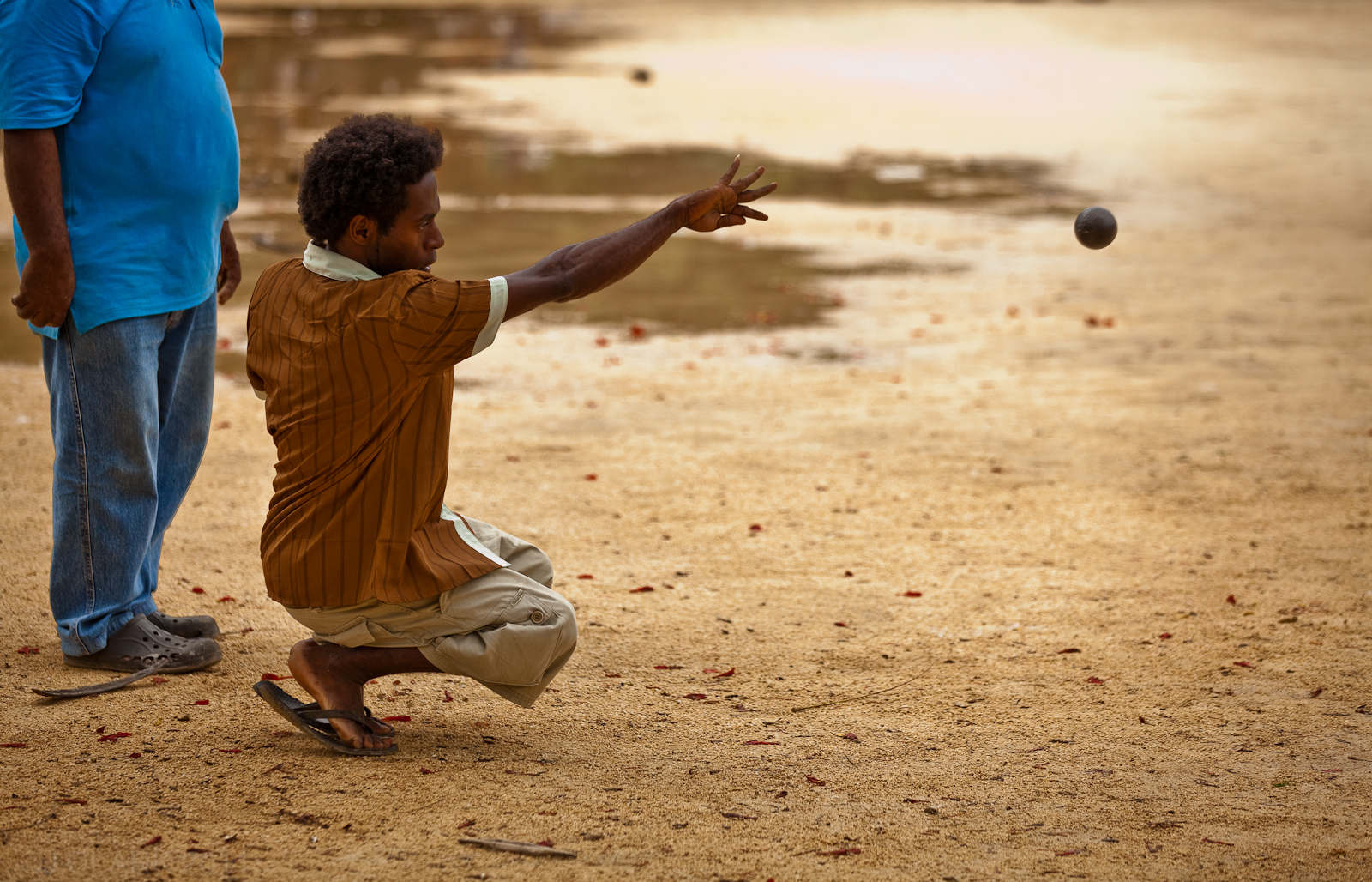LOCALS PLAY BALL IN PORT VILA