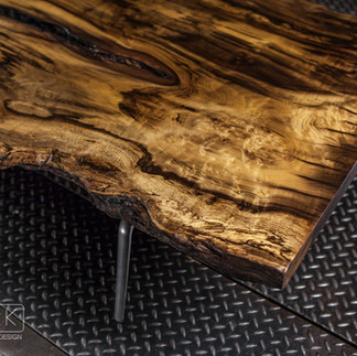 SPALTED MYRTLE WOOD COFFEE TABLE