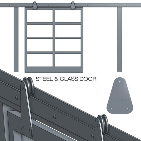 STEEL & GLASS DOOR