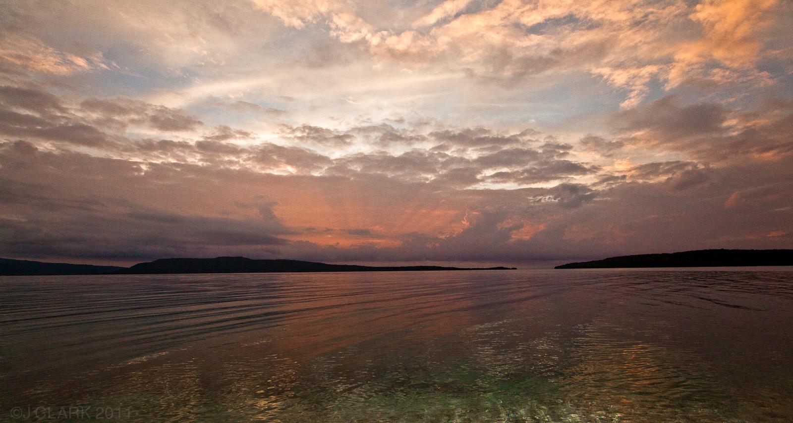 SUNSET OVER NORTH EFATE, VANUATU