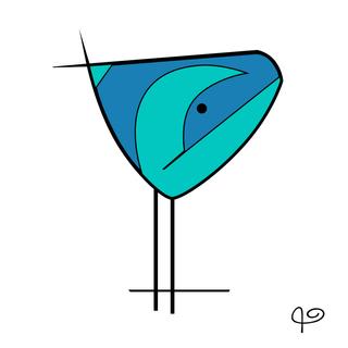 Azurite+Malachite Bird