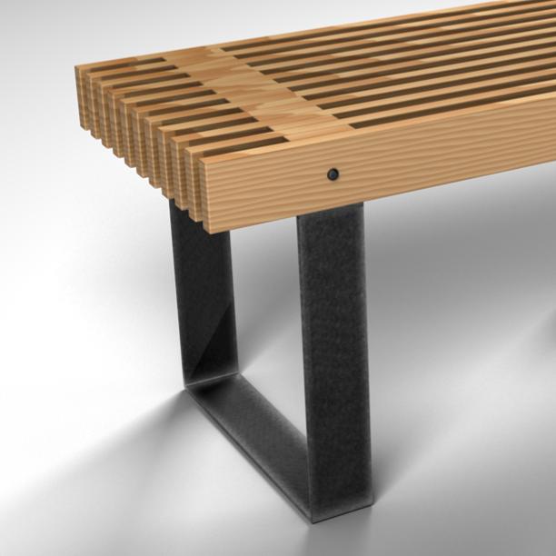 SLAT BENCH+TABLE