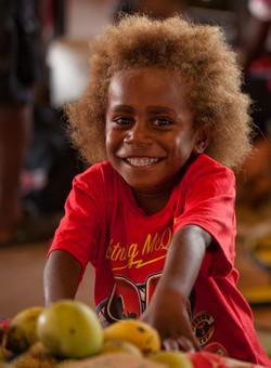 A CHILD IN PORT VILA PUBLIC MARKET