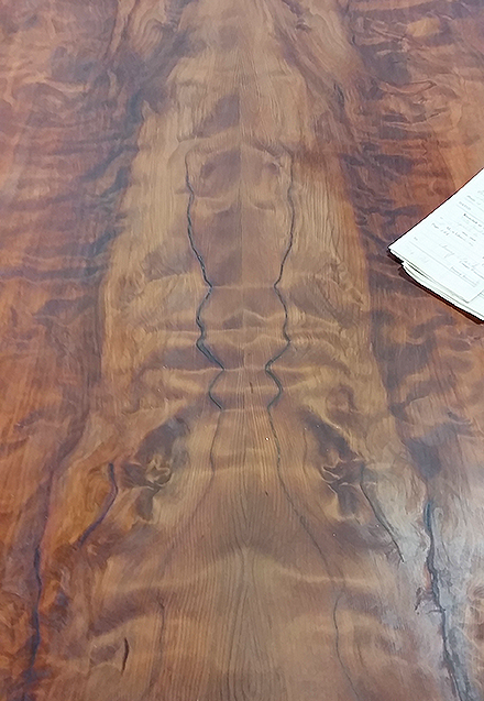 BOOKMATCH REDWOOD TABLE TOP