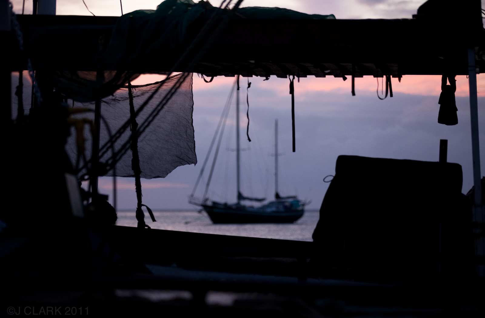 SAILING SUNSET IN PORT VILA, VANUATU