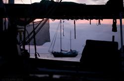 SAILING SUNSET IN PORT VILA, VANUATU