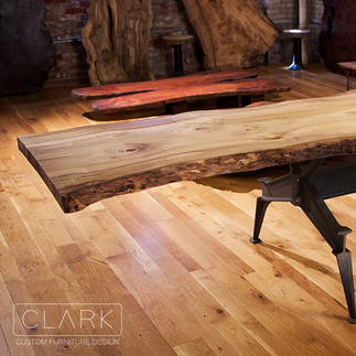 ENSLEY MYRTLE WOOD DINING TABLE