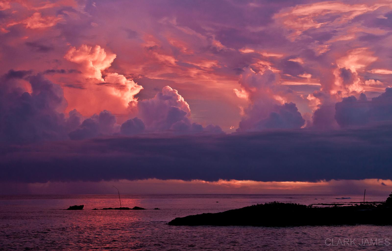 SUNSET OVER BANANA BAY, VANUATU