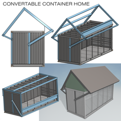 CONVERTABLE CONTAINER HOME