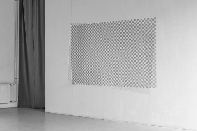 Untitled experiment #2 Installation. Digital prints, 2 plexiglass, size 100cm x 150cm each.