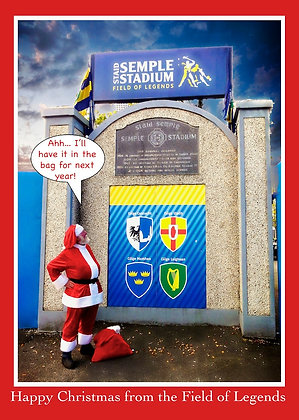 Santa at Semple Stadium - Have it in the bag