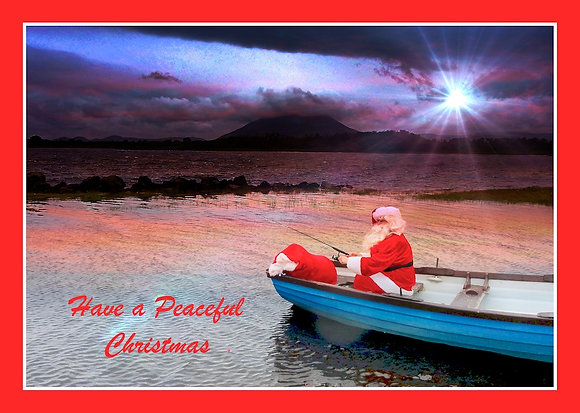 Santa Fishing - Have a Peaceful Christmas