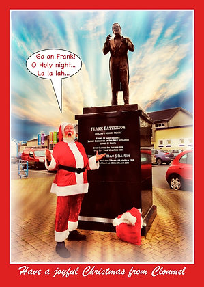 Santa at Frank Patterson Statue Clonmel