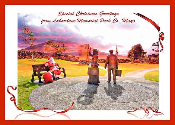 Santa at Lahardane Memorial Park Co. Mayo