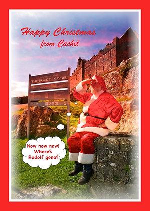 Santa at Rock of Cashel looking for Rudolf