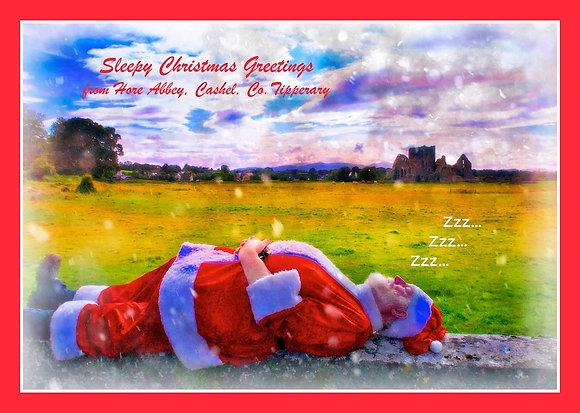 Santa snoozing at Hore Abbey, Cashel