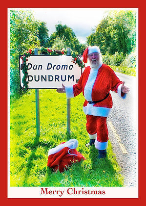 Santa at Dundrum Welcome Sign