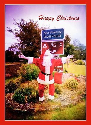 Santa at Crossmolina Welcome Sign