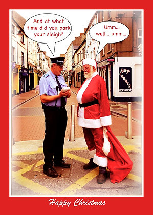 Santa and Traffic Warden