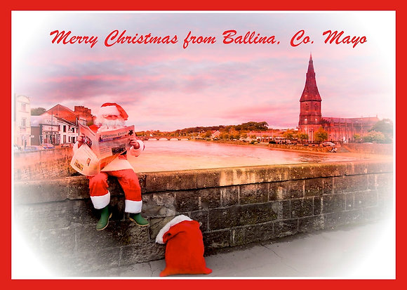 Santa on Bridge in Ballina Co. Mayo