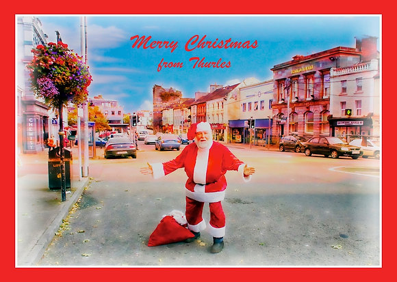 Santa in main square Thurles, Co. Tipperary