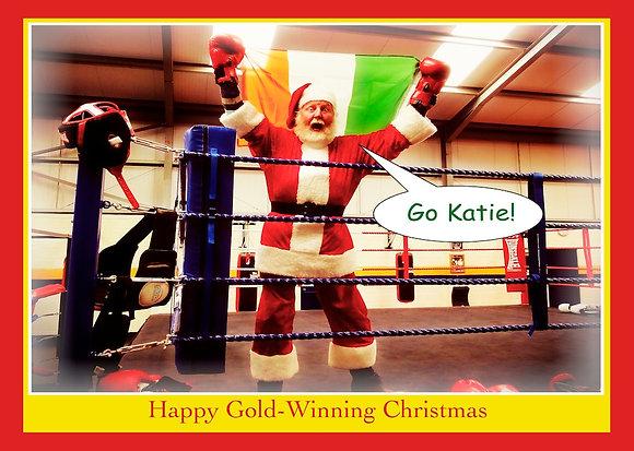 Santa KATIE Taylor Christmas Card
