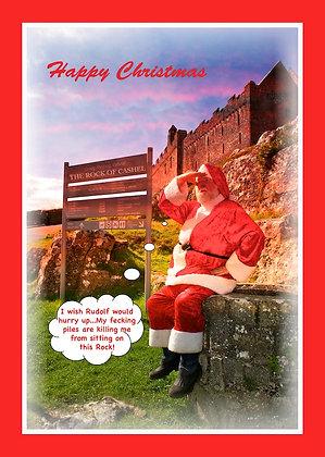 Santa on Rock - fecking piles