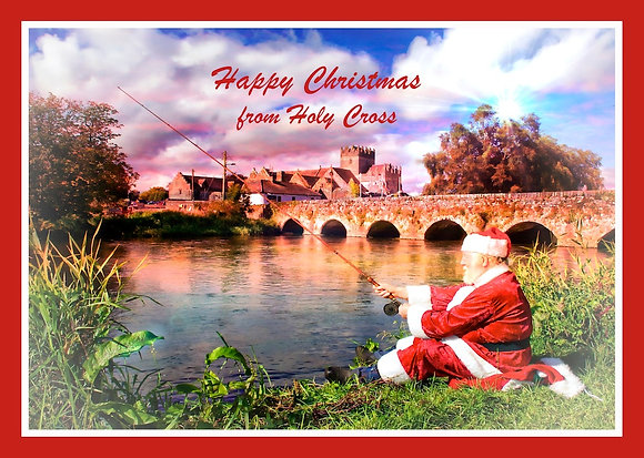 Santa fishing at HolyCross Abbey