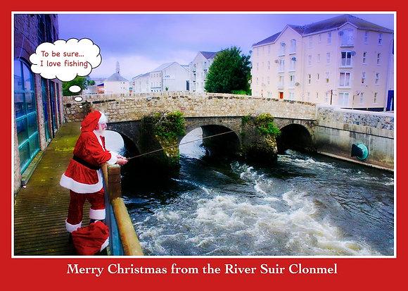 Santa Fishing in River Suir, Clonmel
