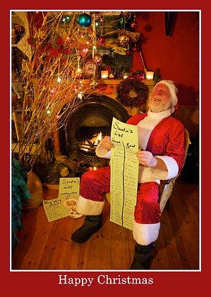Santa with Good/Bad list